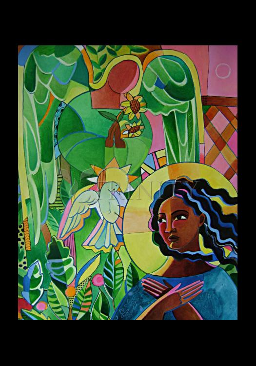 Holy Card - Annunciation Quilt by M. McGrath