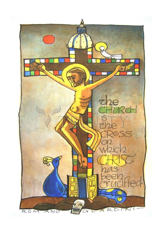 Holy Card - Church Cross by M. McGrath