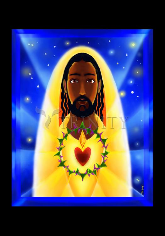 Holy Card - Cosmic Sacred Heart by M. McGrath