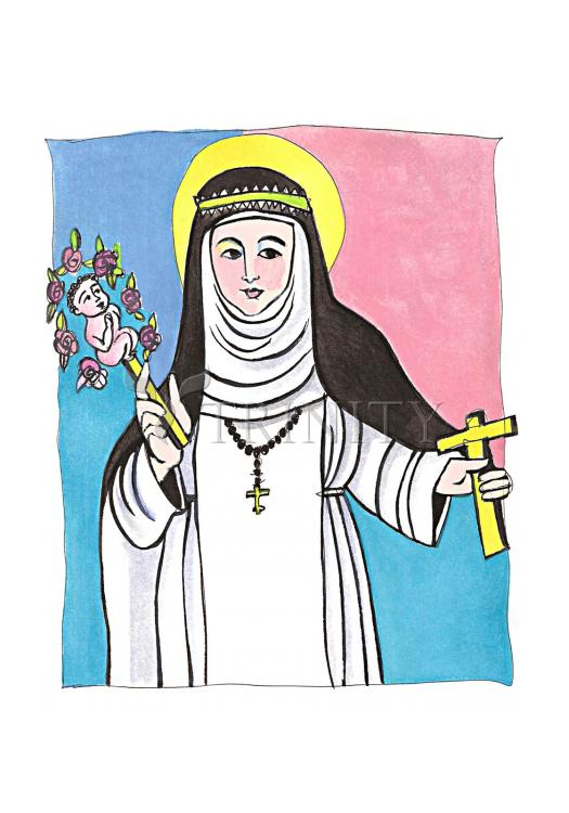 Holy Card - St. Catherine of Siena by M. McGrath