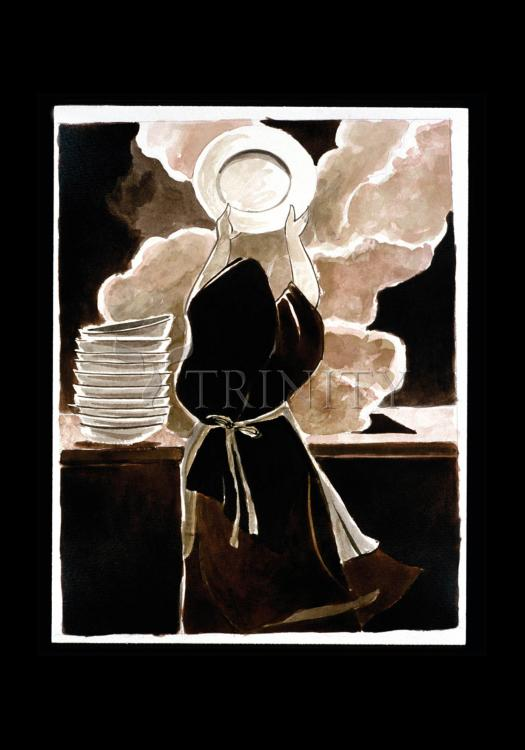 Holy Card - St. Thérèse Doing the Dishes  by M. McGrath