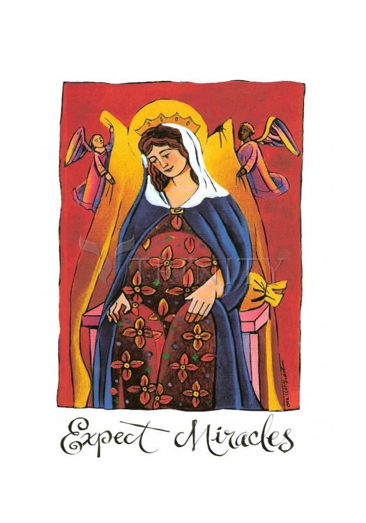 Holy Card - Mary: Expect Miracles by M. McGrath