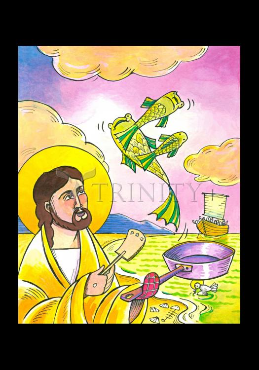 Holy Card - Jesus: Fish Fry With Friends by M. McGrath