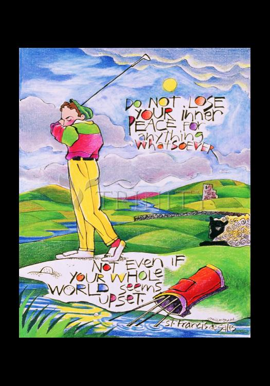 Holy Card - Golfer: Do Not Lose Your Inner Peace by M. McGrath