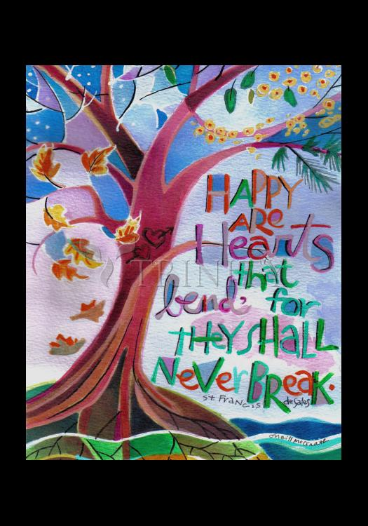 Holy Card - Happy Are Hearts That Bend by M. McGrath