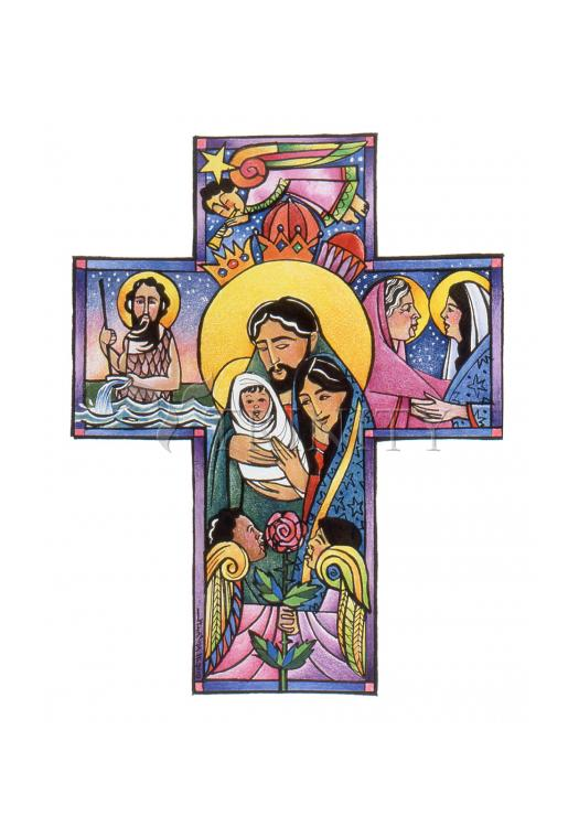 Holy Card - Holy Family Cross by M. McGrath