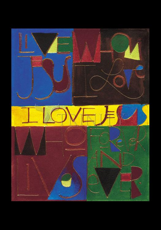 Holy Card - I Love Jesus by M. McGrath