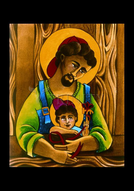 Holy Card - St. Joseph and Son by M. McGrath