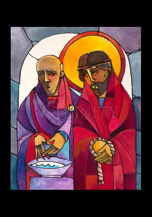 Holy Card - Stations of the Cross - 1 Jesus is Condemned to Death by M. McGrath