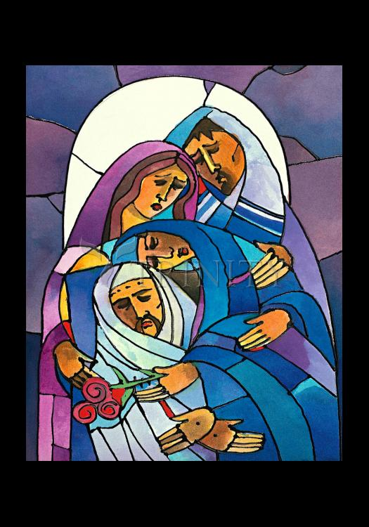 Holy Card - Stations of the Cross - 14 Body of Jesus is Laid in the Tomb by M. McGrath