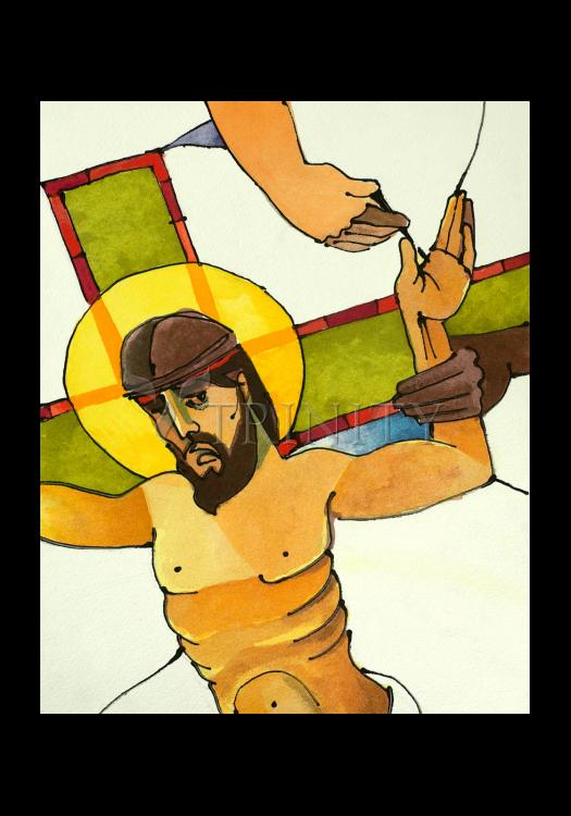 Holy Card - Stations of the Cross - 11 Jesus is Nailed to the Cross by M. McGrath