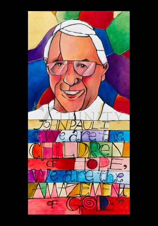 Holy Card - Pope John Paul I by M. McGrath