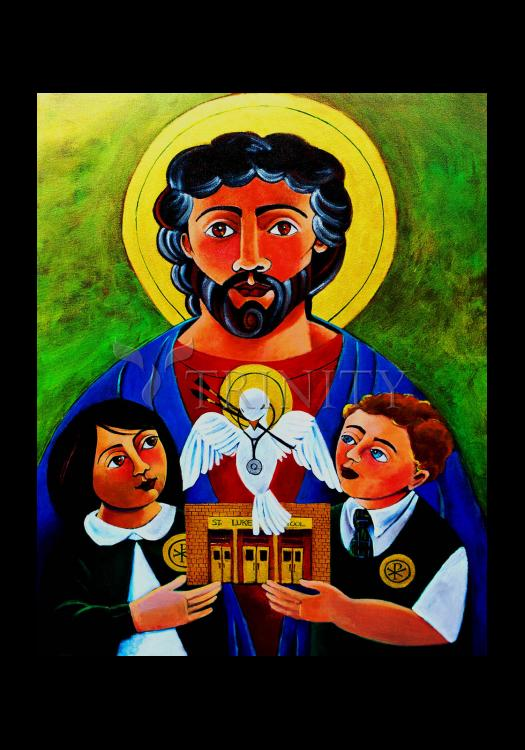 Holy Card - St. Luke the Evangelist by M. McGrath