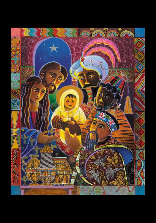 Holy Card - Light of the World Nativity by M. McGrath