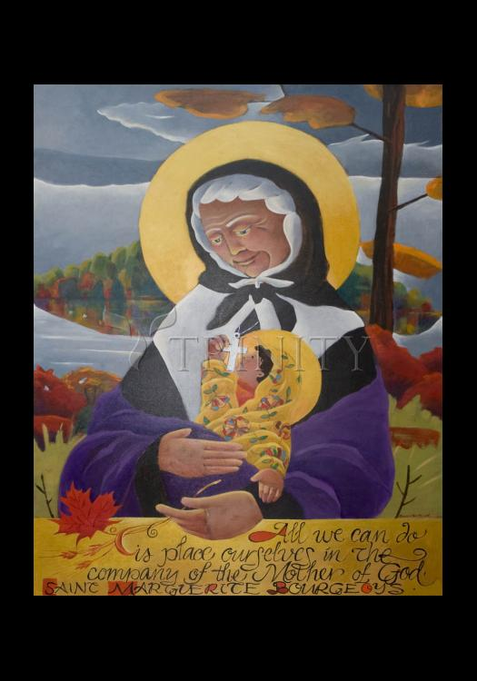 Holy Card - St. Marguerite Bourgeoys by M. McGrath