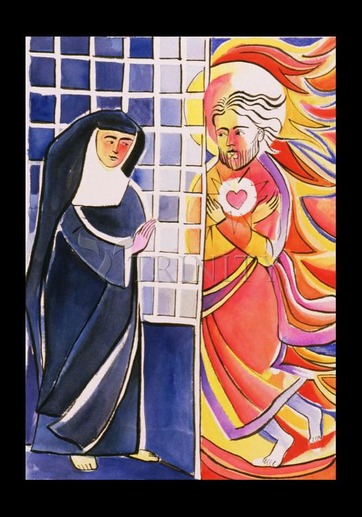 Holy Card - St. Margaret Mary Alacoque, Cloister   by M. McGrath