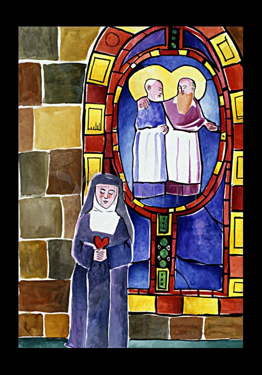 Holy Card - St. Margaret Mary Alacoque at Window by M. McGrath