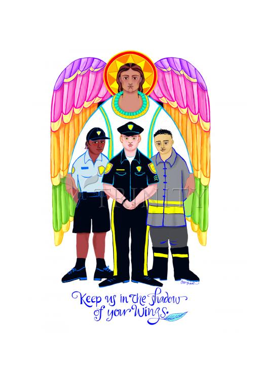 Holy Card - St. Michael Archangel: Patron of Police and First Responders by M. McGrath