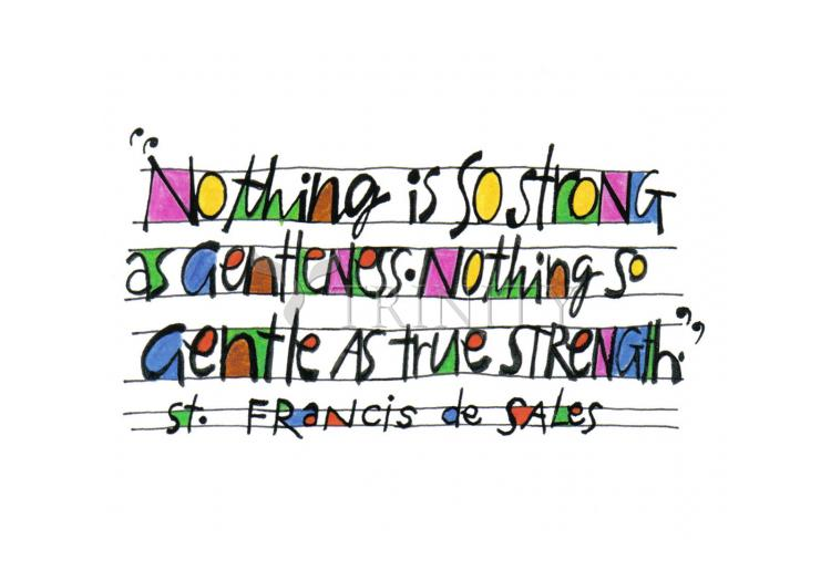 Holy Card - Nothing Is So Strong As Gentleness by M. McGrath
