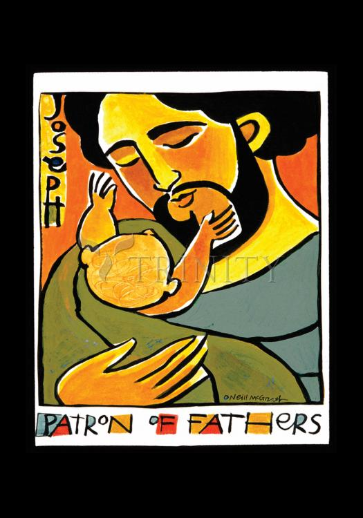 Holy Card - St. Joseph, Patron of Fathers by M. McGrath