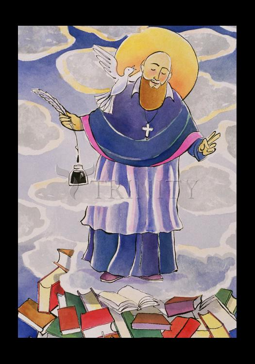 Holy Card - St. Francis de Sales, Patron of Writers by M. McGrath