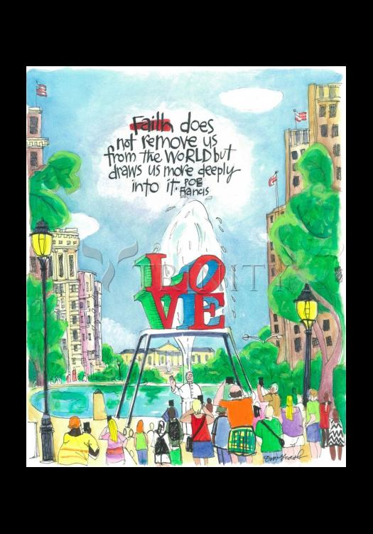 Holy Card - Pope Francis: Philly Love by M. McGrath