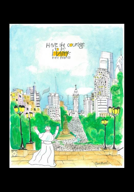 Holy Card - Pope Francis: Philly Museum by M. McGrath