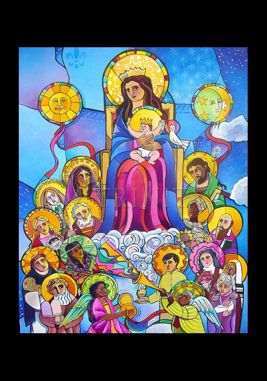 Holy Card - Mary, Queen of the Saints by M. McGrath