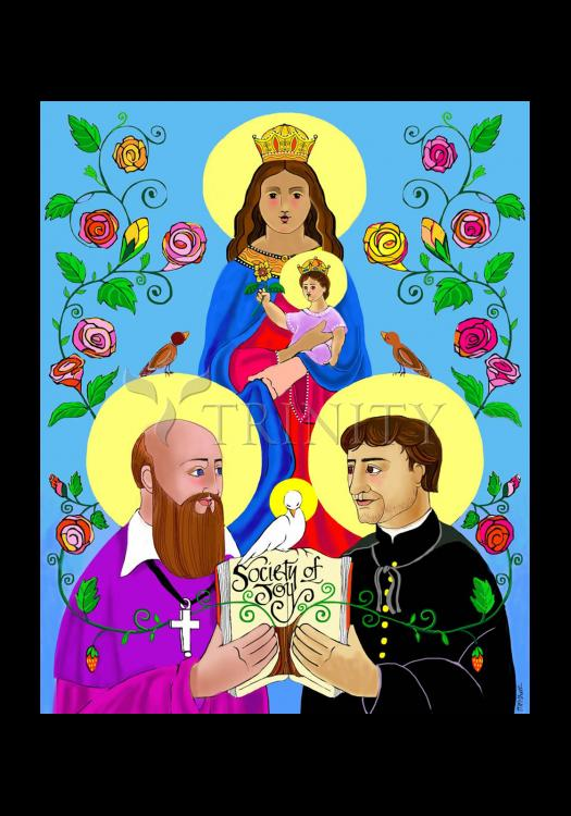 Holy Card - Sts. Francis de Sales and John Bosco by M. McGrath