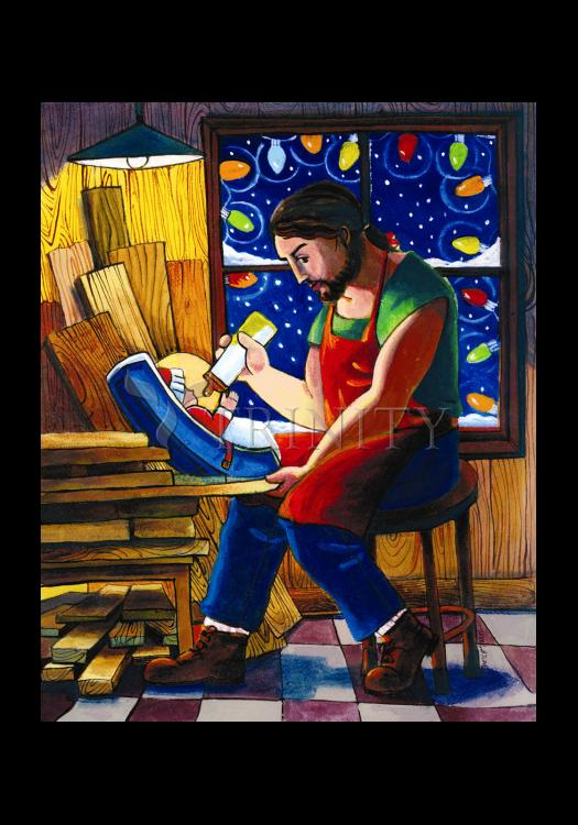 Holy Card - St. Joseph and Son's Christmas by M. McGrath