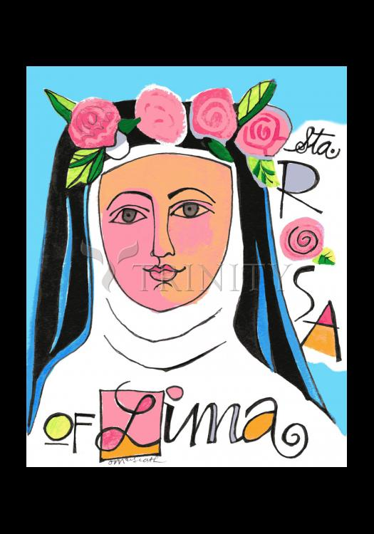 Holy Card - St. Rose of Lima by M. McGrath
