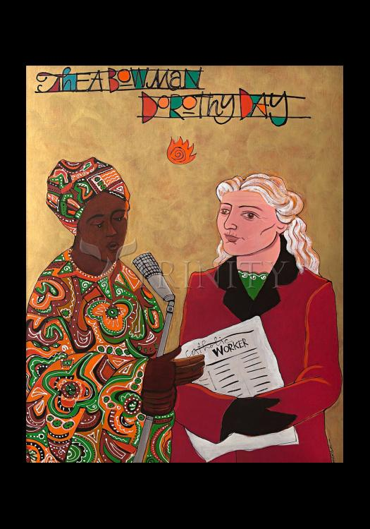 Holy Card - Sr. Thea Bowman and Dorothy Day by M. McGrath