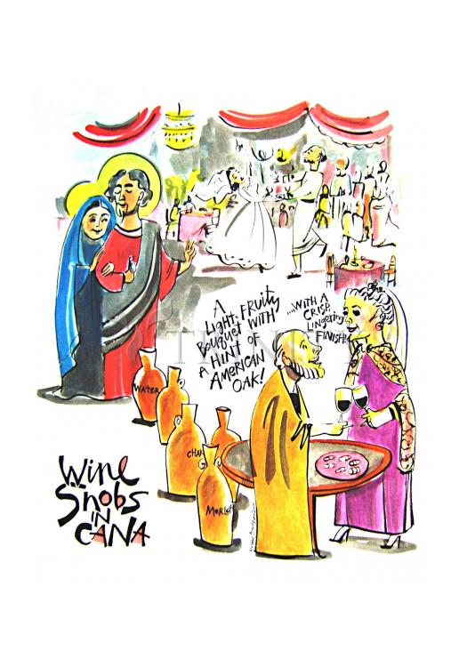 Holy Card - Wine Snobs in Cana by M. McGrath