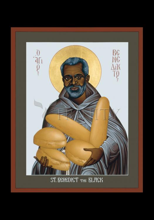 Holy Card - St. Benedict the Black by R. Lentz
