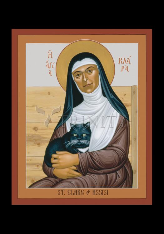 Holy Card - St. Clare of Assisi by R. Lentz