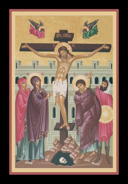 Holy Card - Crucifixion by R. Lentz