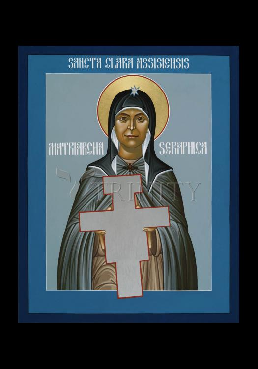 Holy Card - St. Clare of Assisi: Seraphic Matriarch by R. Lentz