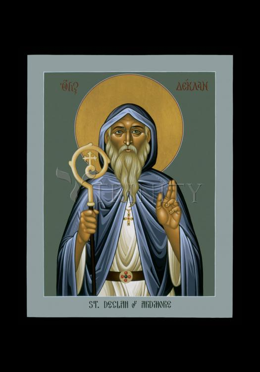 Holy Card - St. Declan of Ardmore by R. Lentz