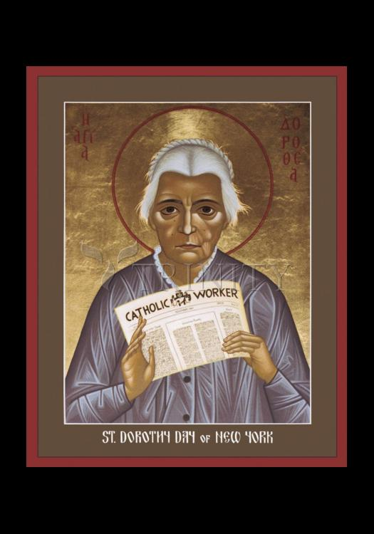 Holy Card - Dorothy Day of New York by R. Lentz
