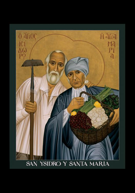 Holy Card - Sts. Isidore and Maria by R. Lentz