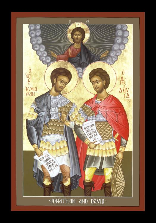 Holy Card - Jonathan and David by R. Lentz