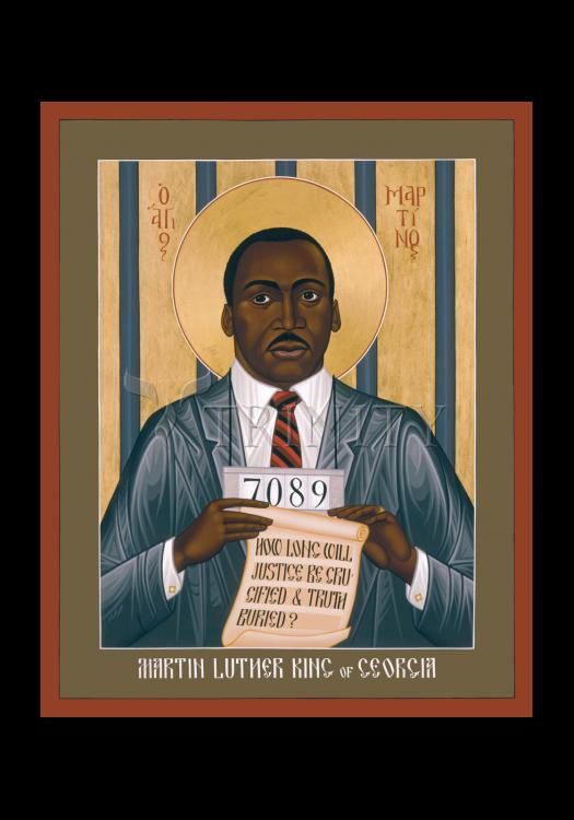 Holy Card - Martin Luther King of Georgia by R. Lentz