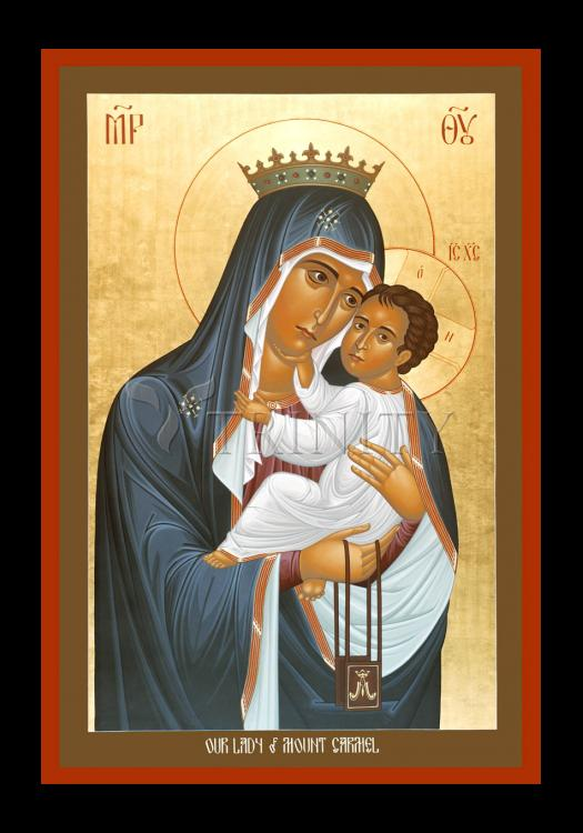 Holy Card - Our Lady of Mt. Carmel by R. Lentz