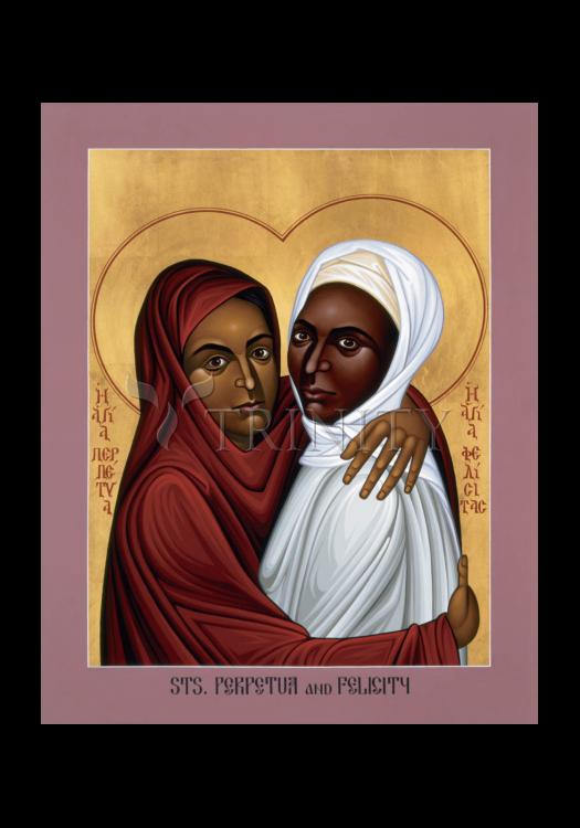 Holy Card - Sts. Perpetua and Felicity by R. Lentz