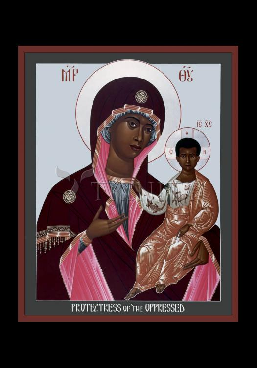 Holy Card - Mother of God: Protectress of the Oppressed by R. Lentz