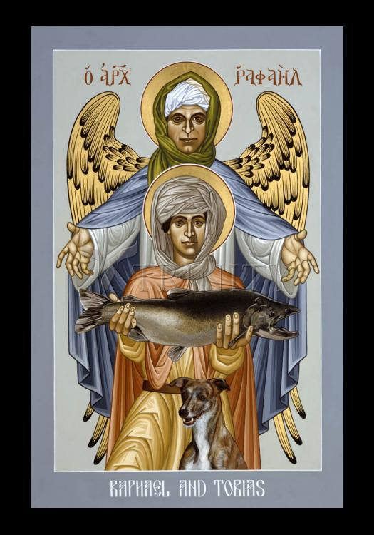 Holy Card - St. Raphael and Tobias by R. Lentz