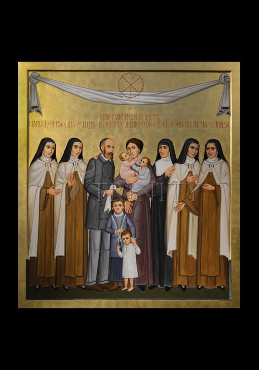 Holy Card - Sts. Louis and Zélie Martin with St. Thérèse of Lisieux and Siblings by P. Orlando
