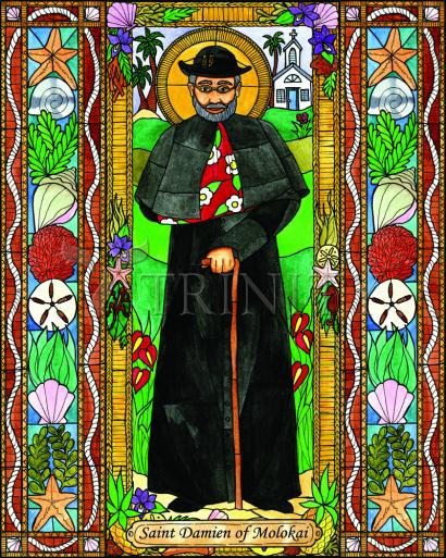 St. Damien of Molokai by Brenda Nippert