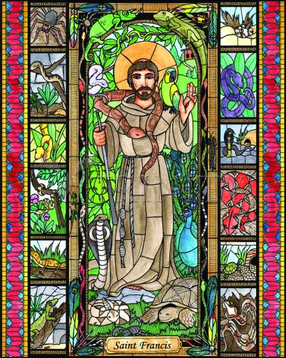 St. Francis - Patron of Exotic Animals by Brenda Nippert