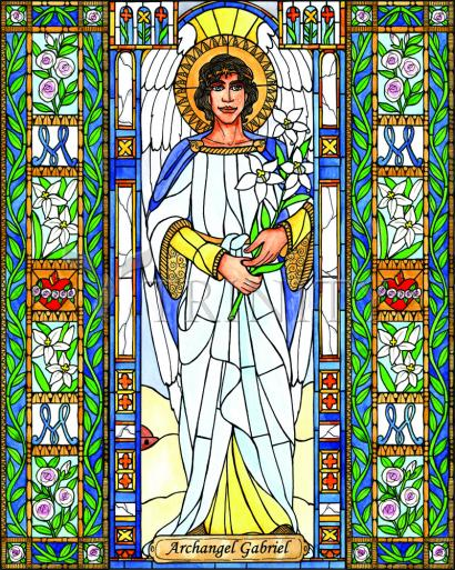 St. Gabriel Archangel by Brenda Nippert